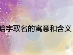 晗字取名的寓意和含义 吉祥好听有涵养的名字