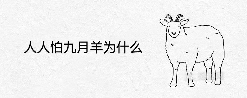 人人怕九月羊为什么 很命苦吗