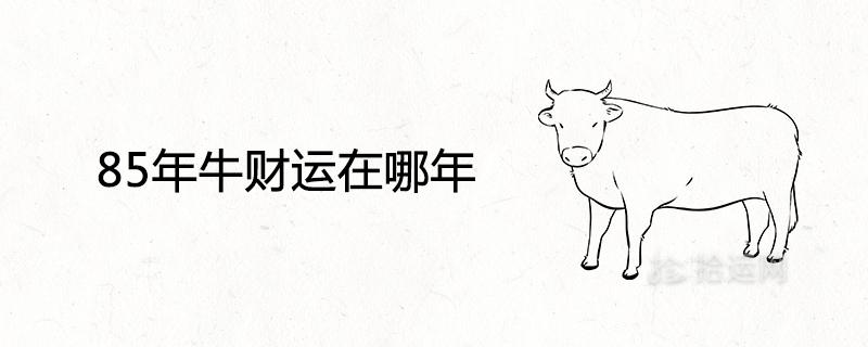 85年牛财运在哪年 做什么生意最旺